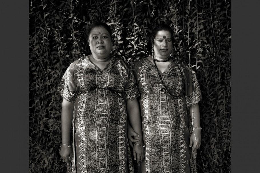 Portrait of two Bangladeshi hijras