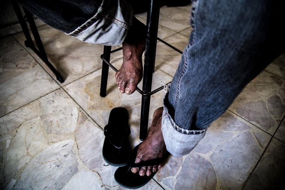 A man's feet
