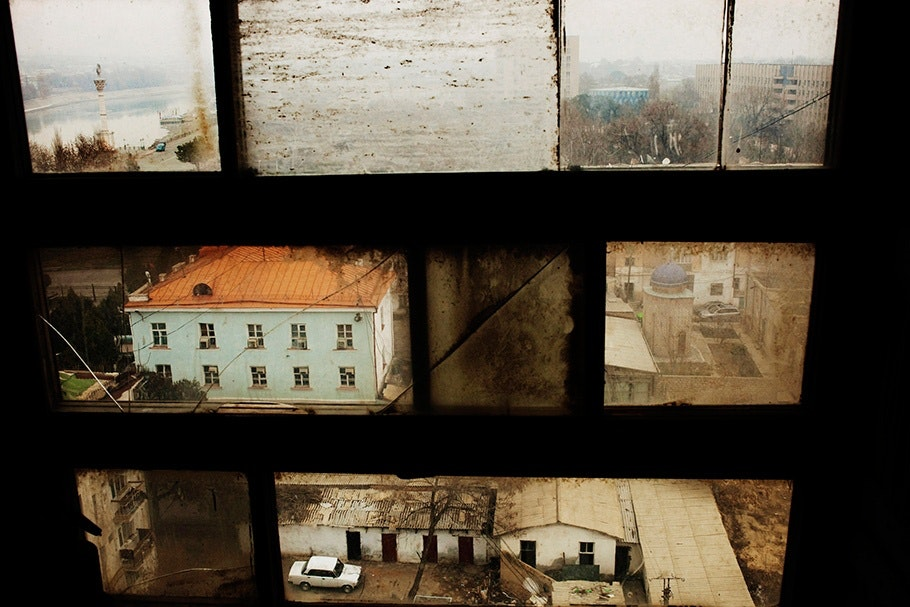 View through windows.