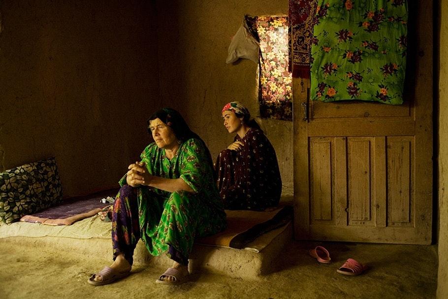 Women sitting.