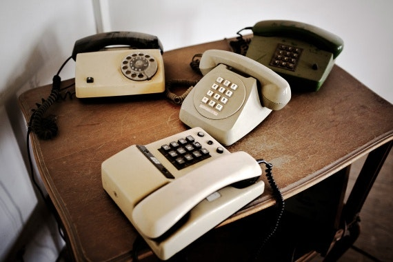 Four phones on table