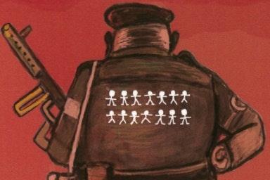 Cartoon image of a Brazilian police officer
