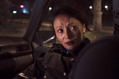 Woman in a car