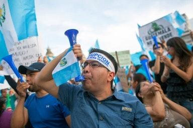 Demonstrators in Guatemala