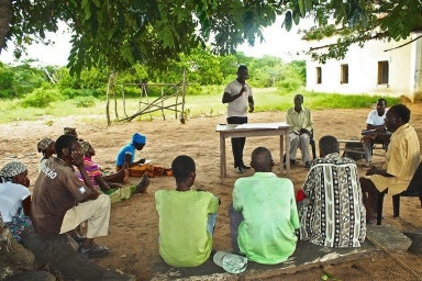 A community meeting