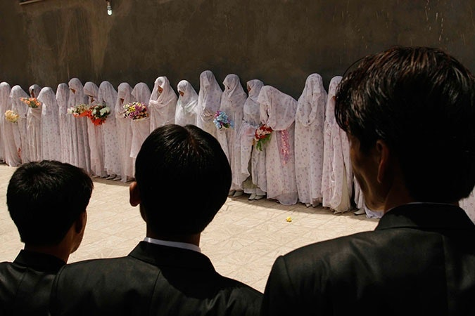 Mass marriage ceremony in Afghanistan.