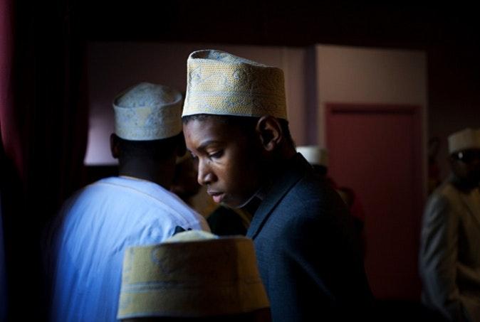 Young muslim man.