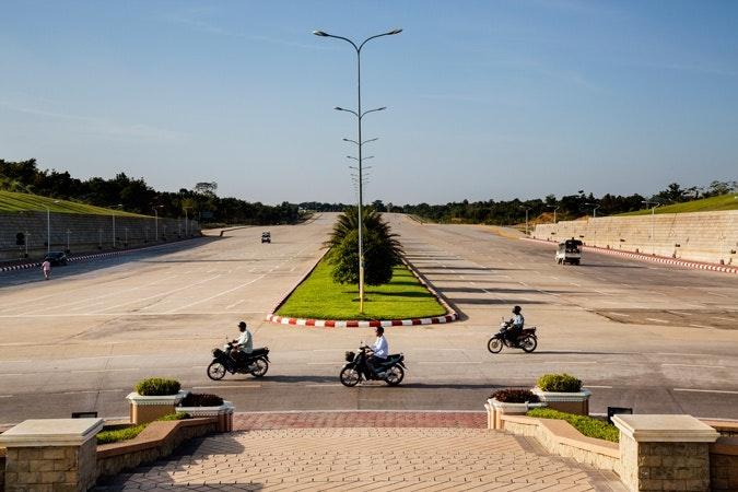 Burma boulevard in Naypyitaw
