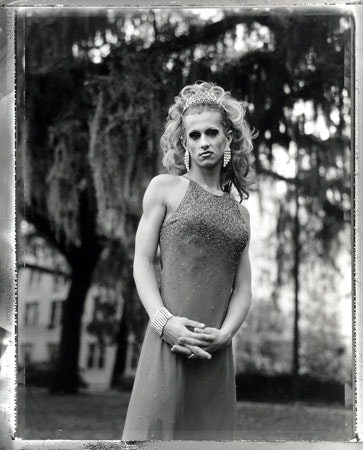 A woman in a dress