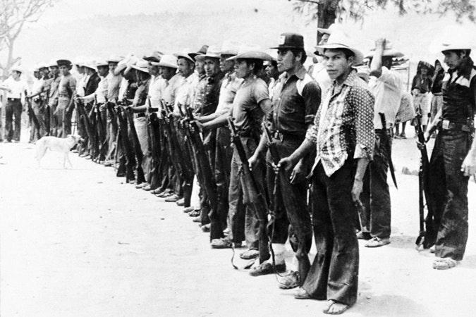 A line up of men