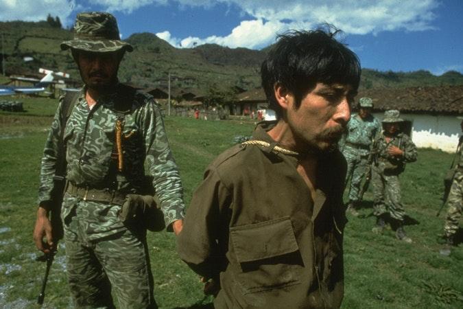 A solider with prisoner