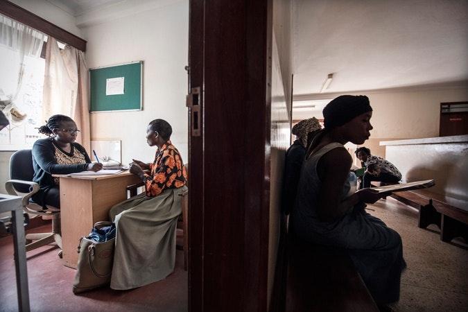 A clinic room