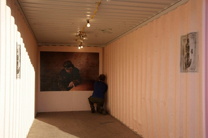 Installing the main image in shipping container