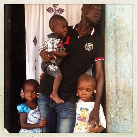 a man with children