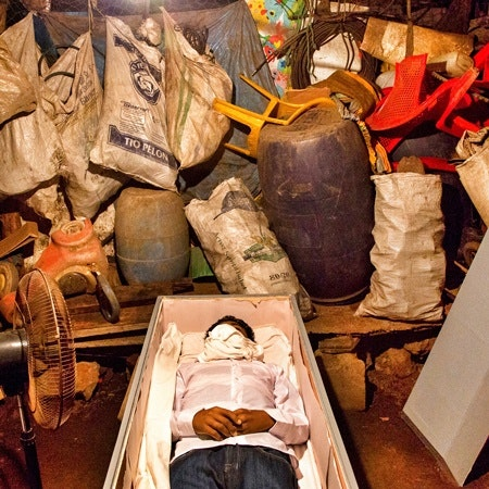 A body in coffin