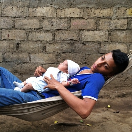 A man with baby
