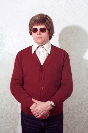 A man with sunglasses on