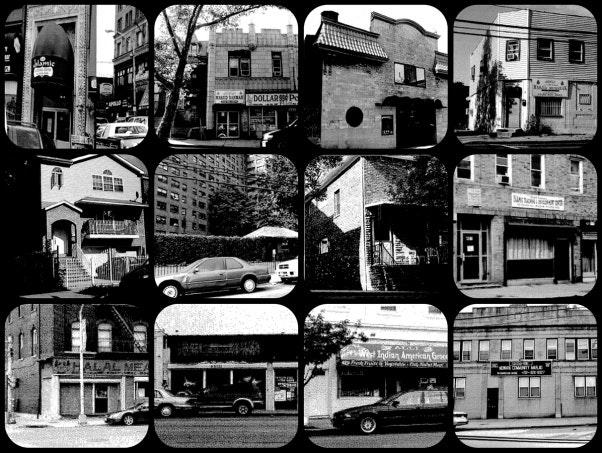 A grid of street scenes