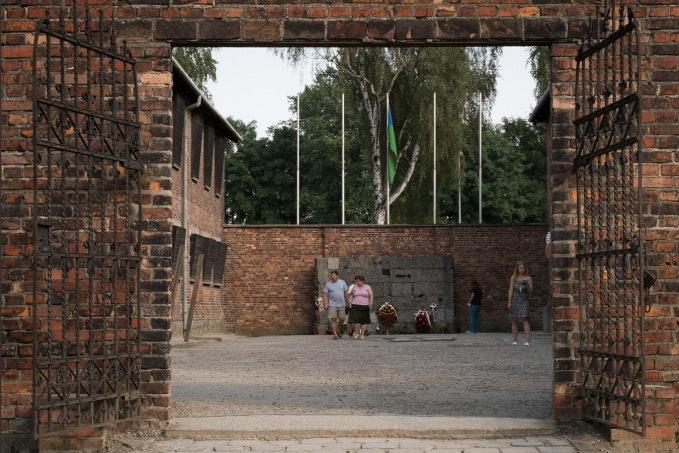 A memorial wall.