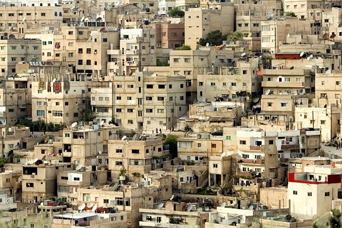 Apartment buildings in Amman