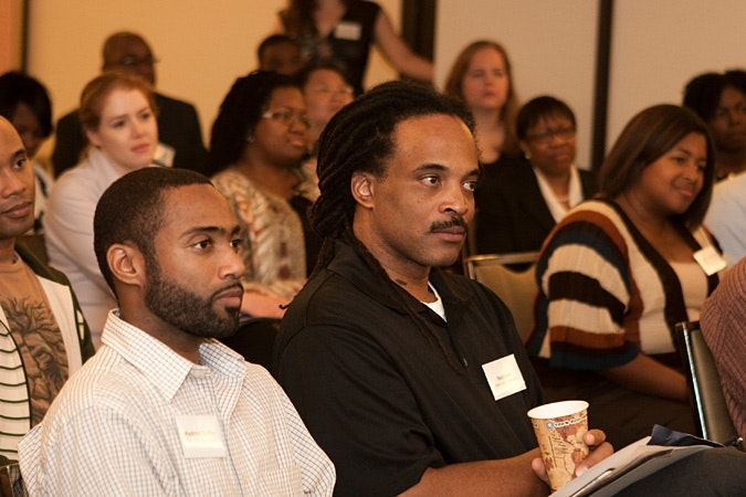 Kedrick Griffin and Neil Irvin sitting in audience