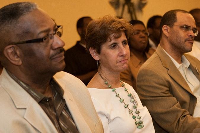 Ron Walker, Esther Kaplan, and David C. Banks.