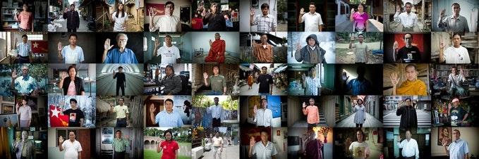 Grid of individual portraits