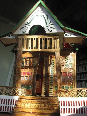 Close-up of miniature house