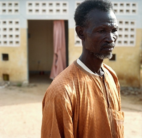 Man wearing orange robe