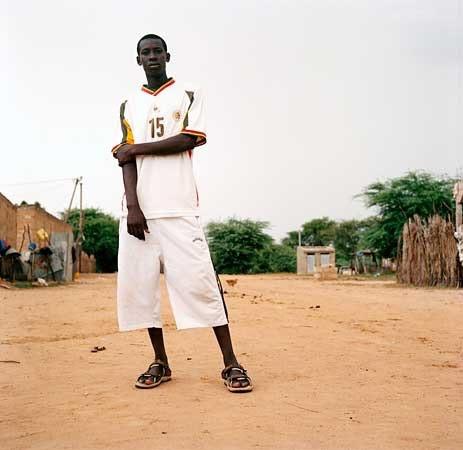 Saidu Diallo wearing soccer shirt